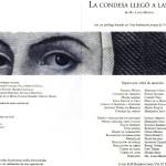 La-condesa-llego-a-las-cinco-1995-Programa-de-mano-Interior
